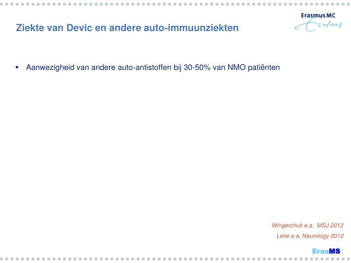 Ziekte van Devic en andere auto-immuunziekten