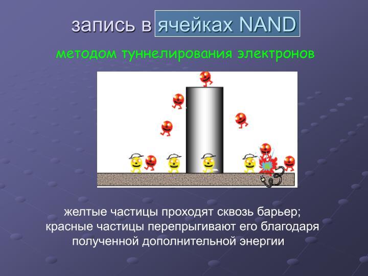 запись в ячейках NAND