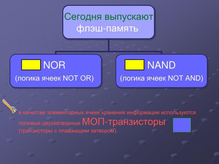 в качестве элементарных ячеек хранения информации используются полевые двухзатворные