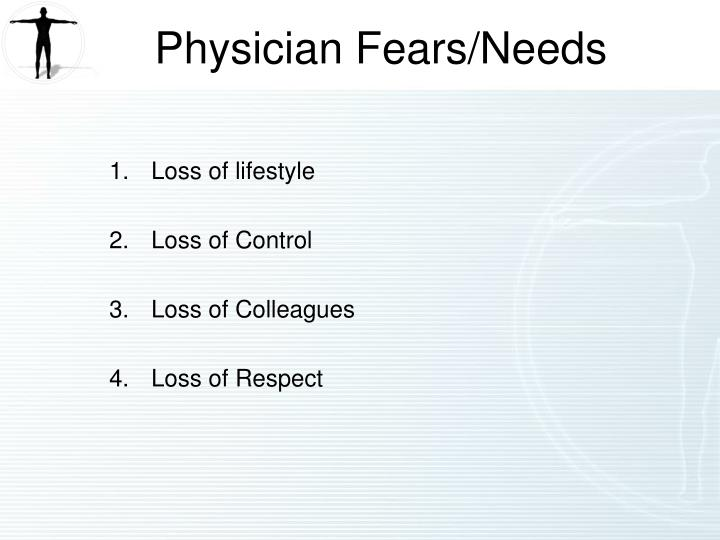 Physician Fears/Needs