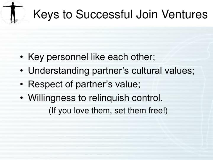 Keys to Successful Join Ventures
