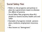social safety net