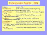 comprehensive awards 2002