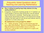 frequently asked questions about teaching and learning mathematics2