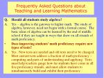 frequently asked questions about teaching and learning mathematics3