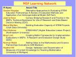 msp learning network