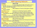 msp learning network1