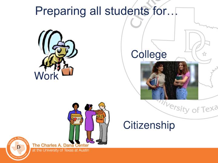 Preparing all students for…
