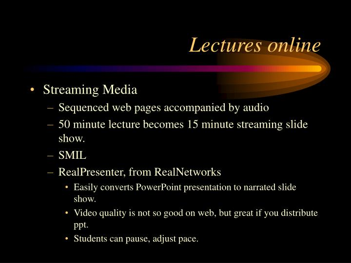 Lectures online