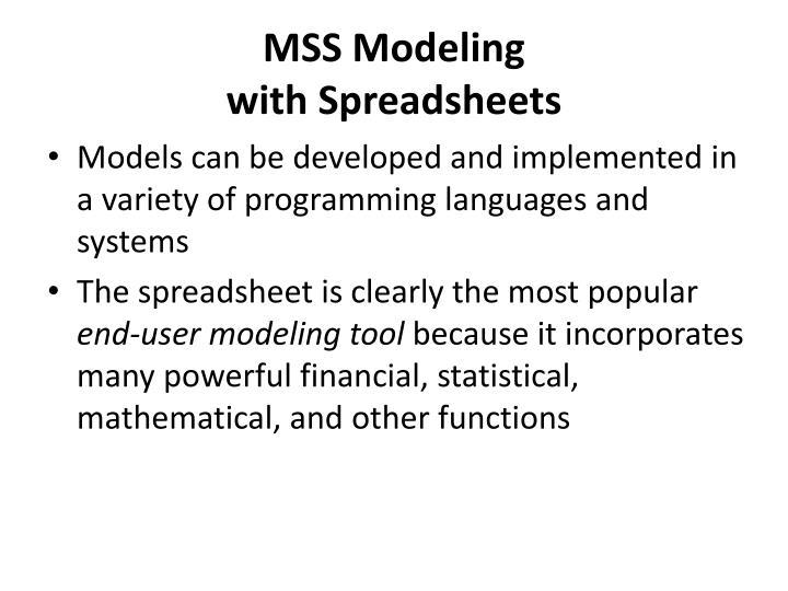 MSS Modeling