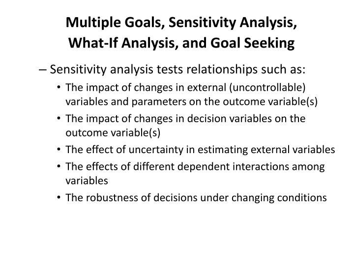 Multiple Goals, Sensitivity Analysis,