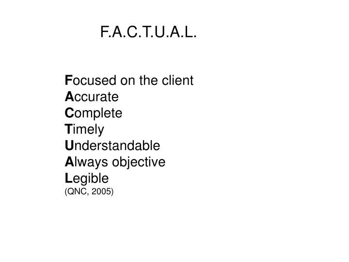 F.A.C.T.U.A.L.