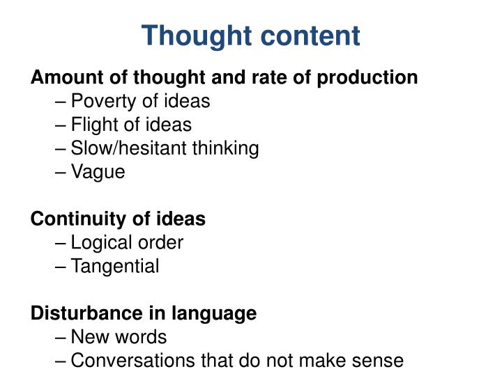 Thought content