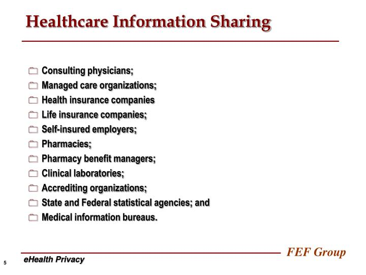 Healthcare Information Sharing