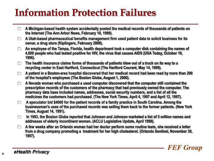 Information Protection Failures