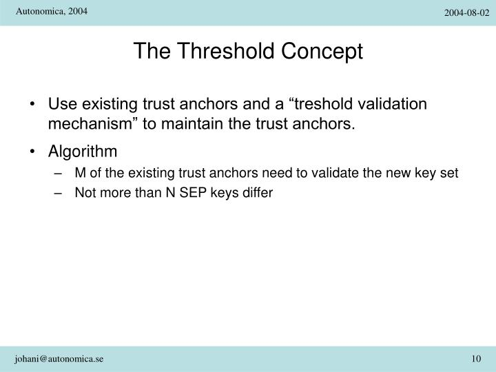 The Threshold Concept