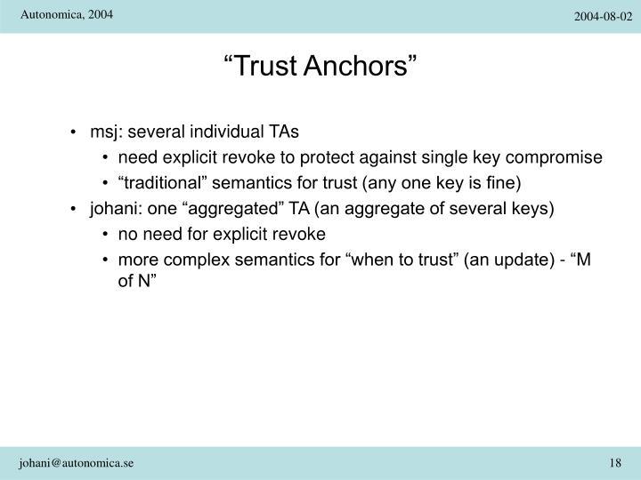 """Trust Anchors"""
