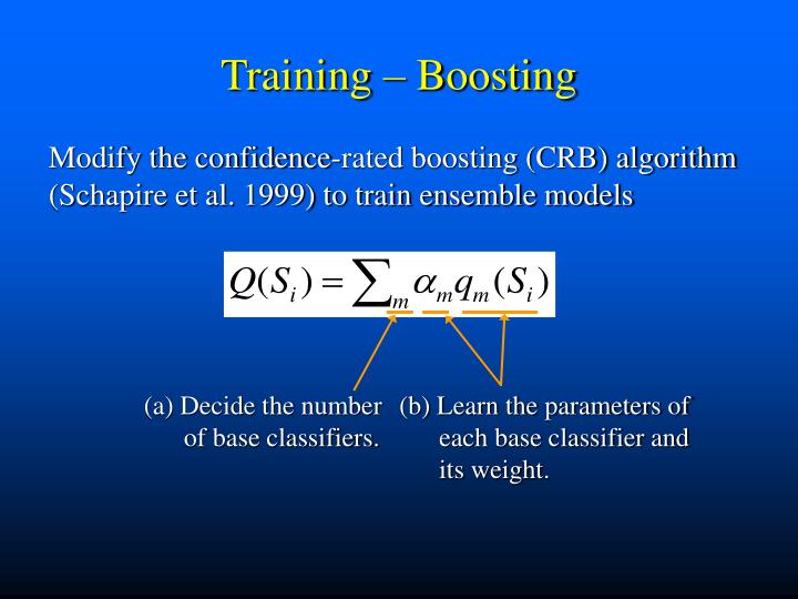 (a) Decide the number of base classifiers.