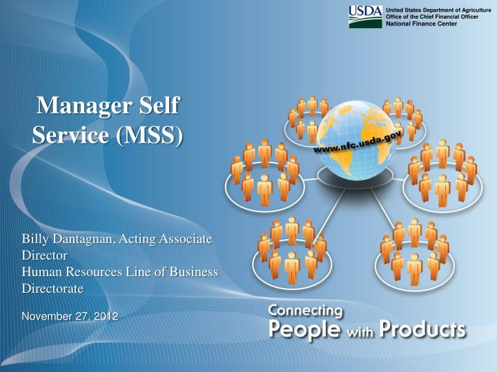 Manager self service mss