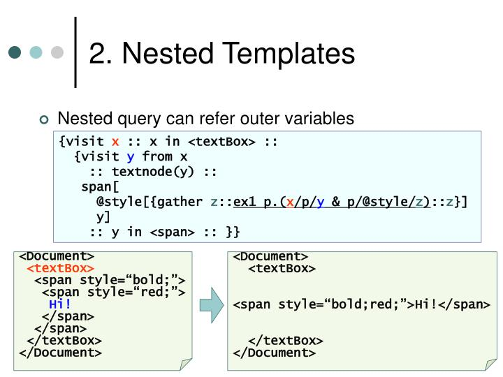 2. Nested Templates