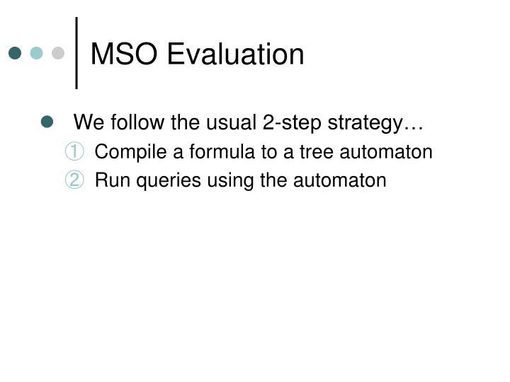 MSO Evaluation