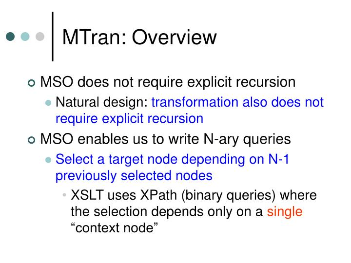 MTran: Overview