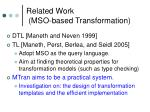 related work mso based transformation