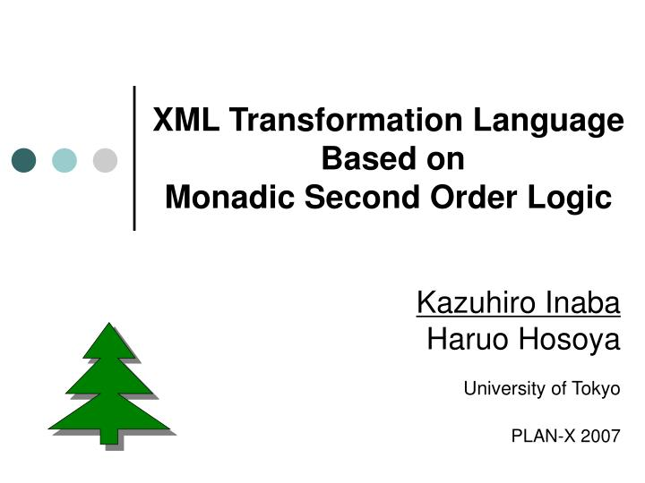 XML Transformation Language