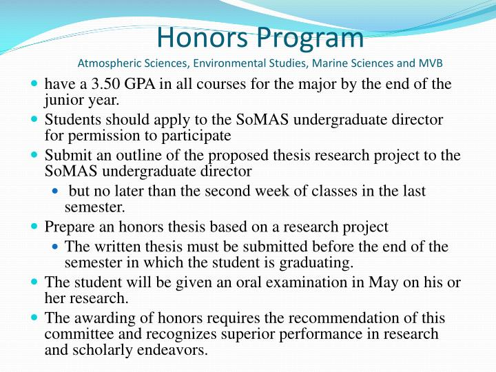 have a 3.50 GPA in all courses for the major by the end of the junior year.