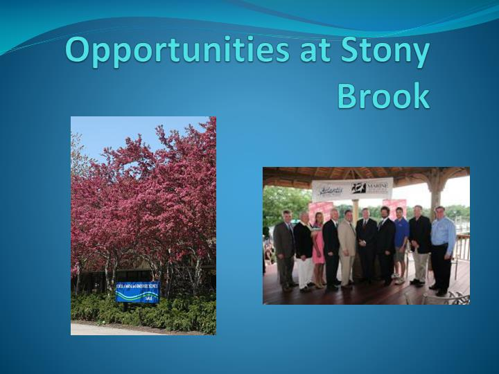 Opportunities at Stony Brook