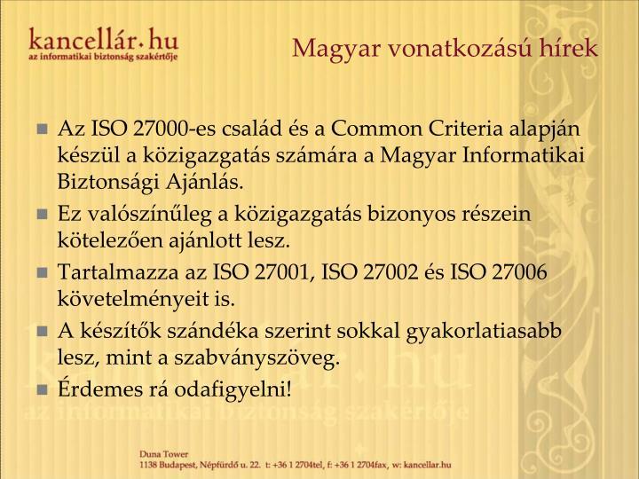 Magyar vonatkozású hírek