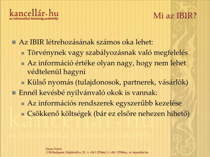 Mi az IBIR?