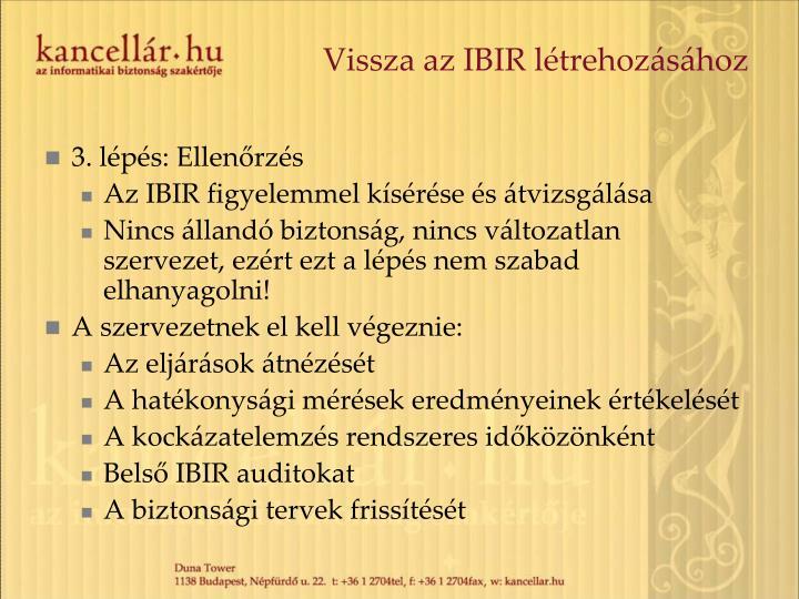 Vissza az IBIR létrehozásához