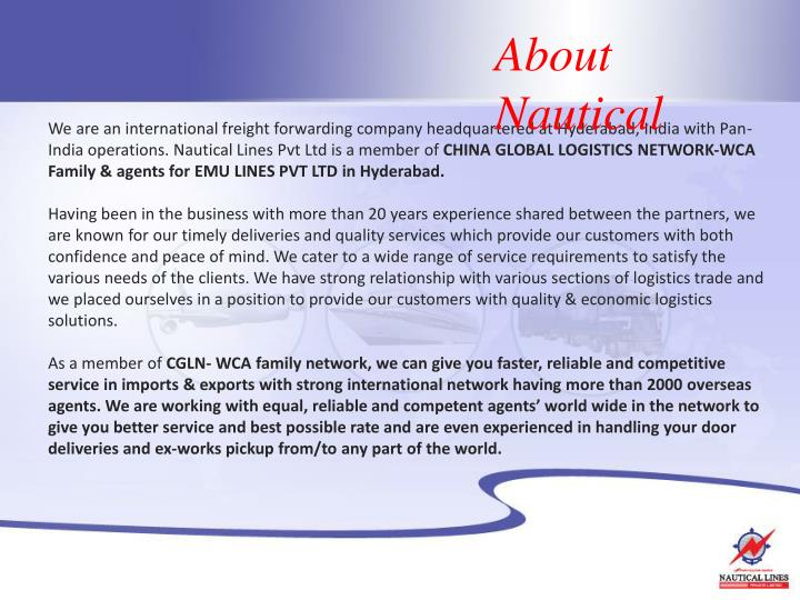 About Nautical