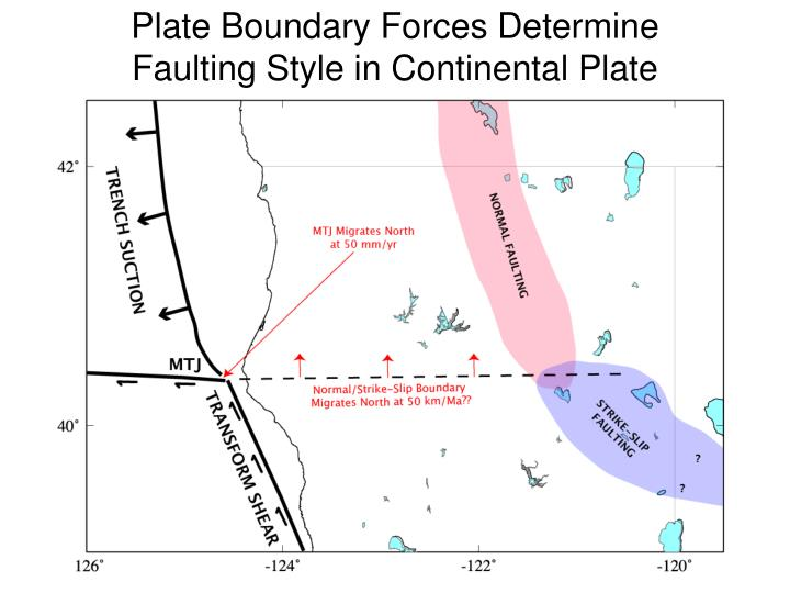 Plate Boundary Forces Determine Faulting Style in Continental Plate