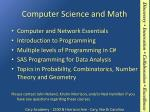 computer science and math