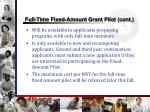 full time fixed amount grant pilot cont
