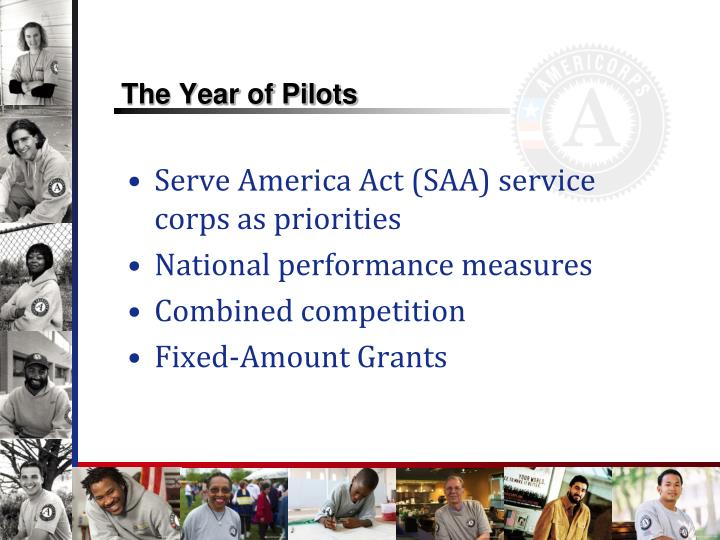 The year of pilots