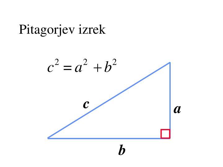 Pitagorjev izrek