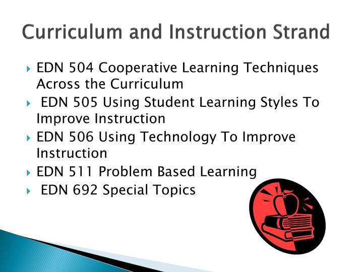 Curriculum and Instruction Strand