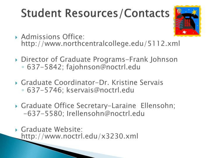 Student Resources/Contacts