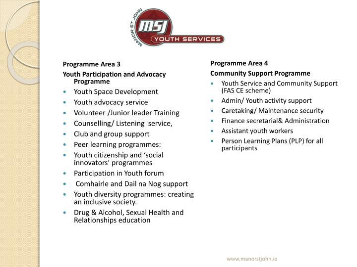 Programme Area 3