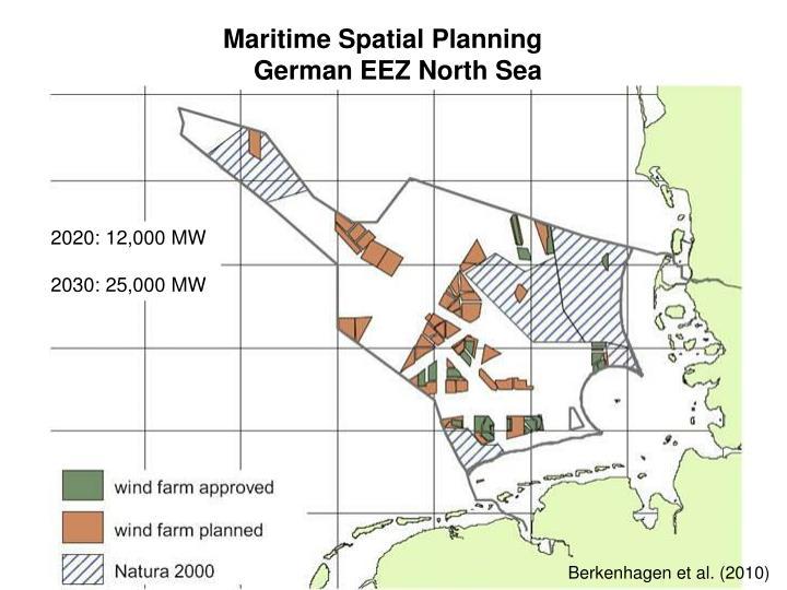 Maritime Spatial Planning German EEZ North Sea