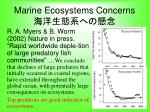 marine ecosystems concerns
