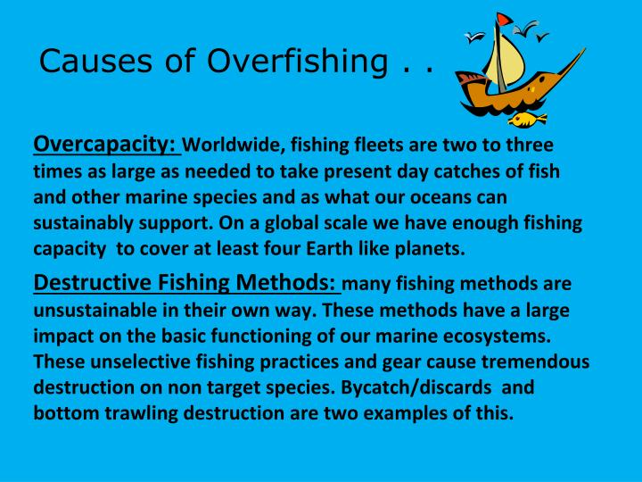 Causes of Overfishing . .
