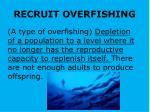 recruit overfishing