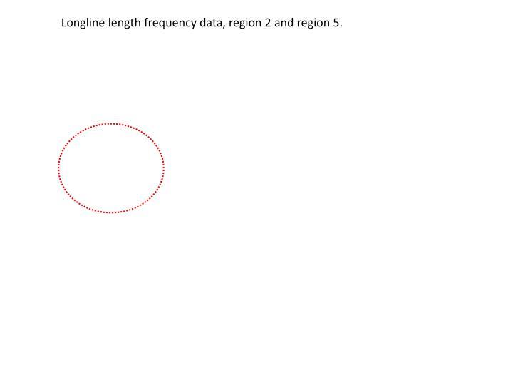Longline length frequency data, region 2 and region 5.