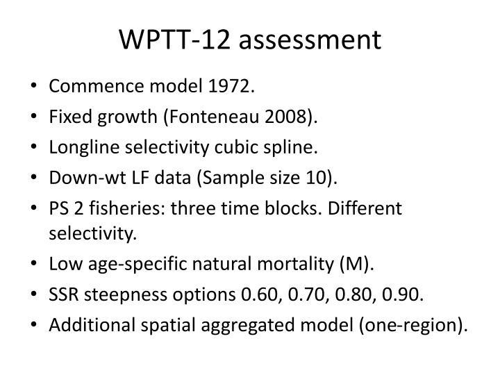 WPTT-12 assessment