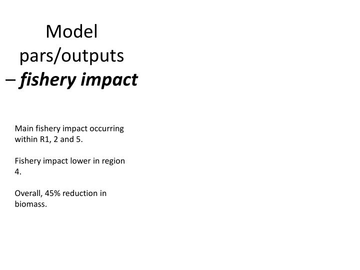 Model pars/outputs