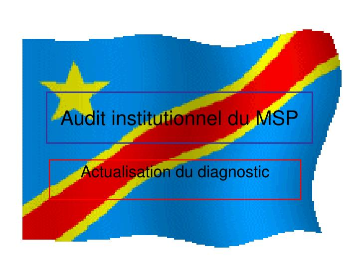 audit institutionnel du msp